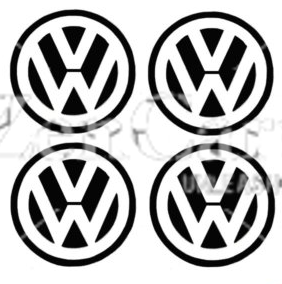 VW 4 Logo Badge Stickers Decals Wheel trim Stickers