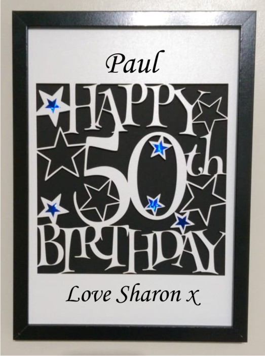 PERSONALISED 50th BIRTHDAY PHOTO LASERCUT FRAME IDEAL GIFT