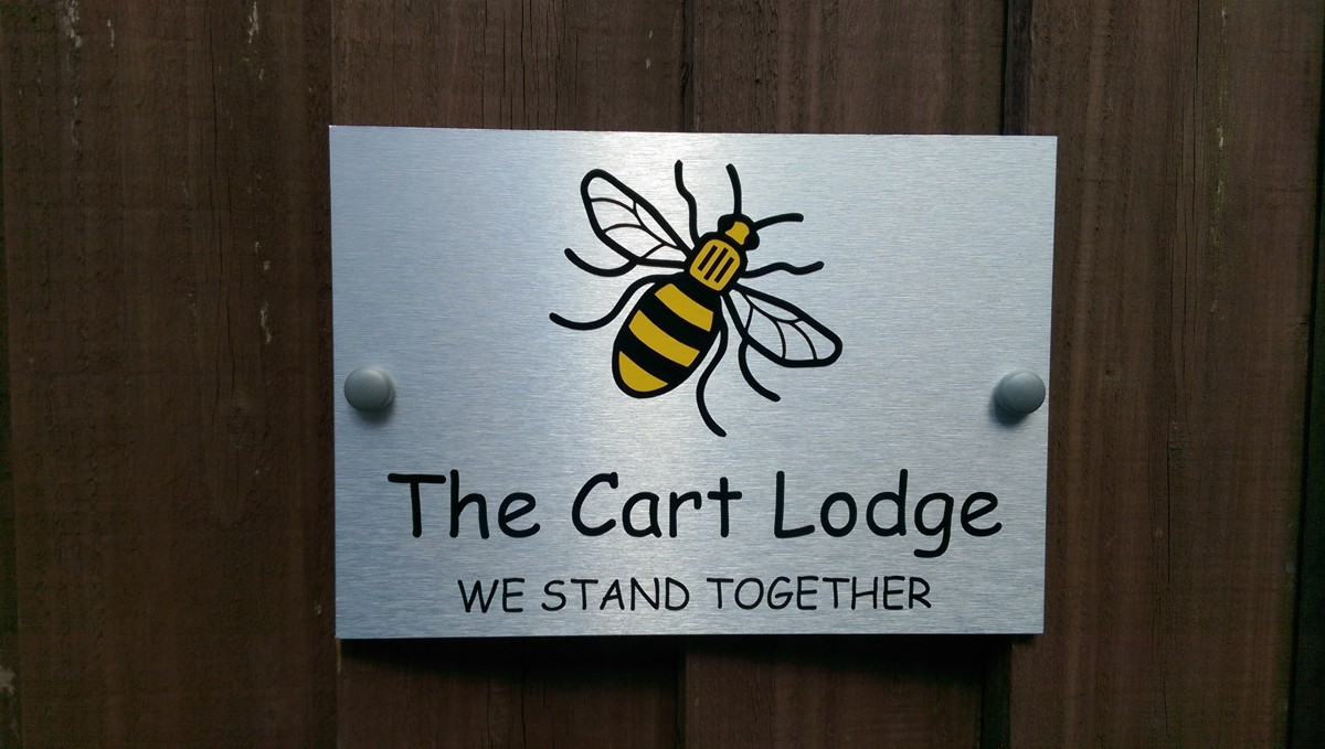 Manchester Bee House Plaque Name or Number New Design