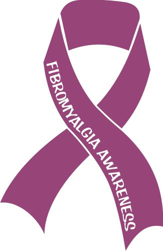 Fibromyalgia Awareness Ribbon For Your Car Window