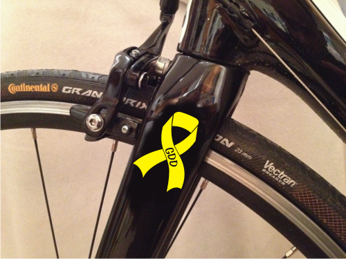 GDD Awareness Ribbon For Your Bicycle, Pram, Wheelchair