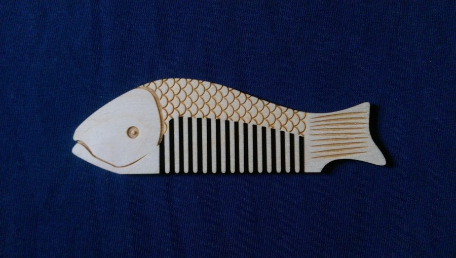 Fishing Comb laser cut and engraved