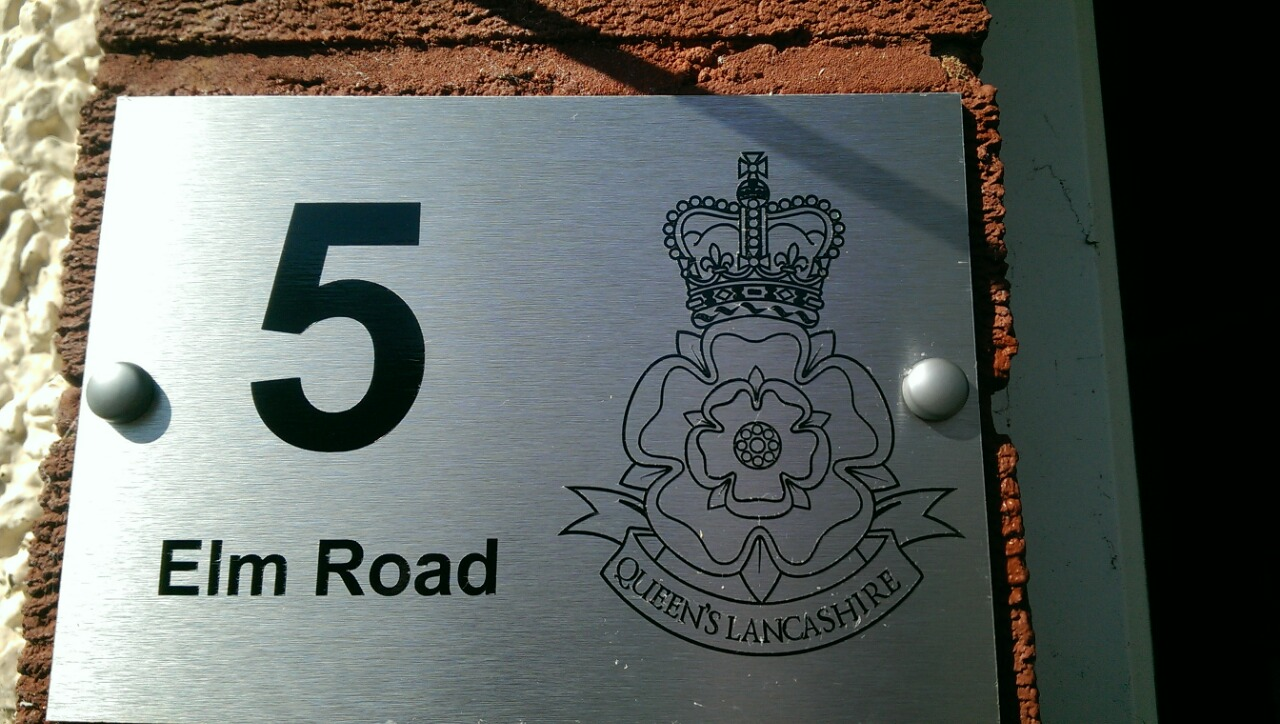 Queen's Lancashire Regiment Door Plaque