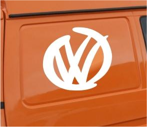 2x VW MODERN LOGO STICKER DECAL T4 T5 POLO LUPO GOLF