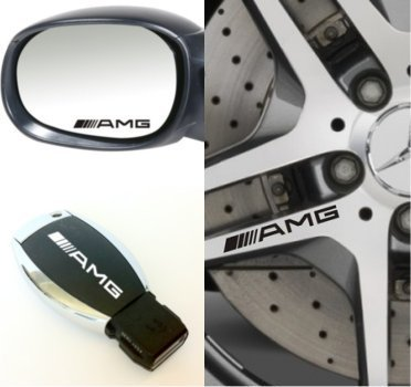 Mercedes AMG Wheel Door Mirror & key stickers full set