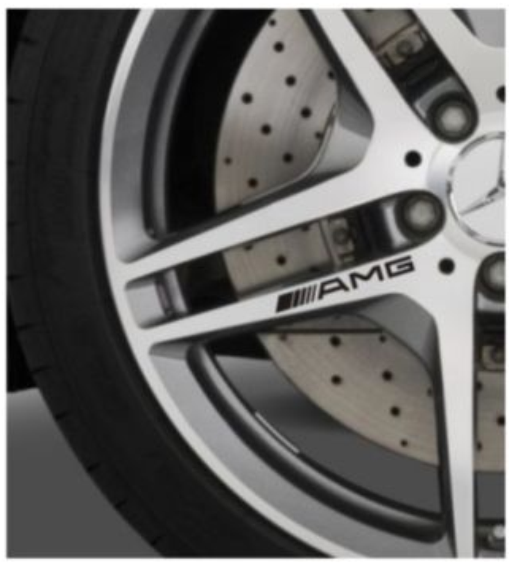 8 X AMG Wheel Stickers