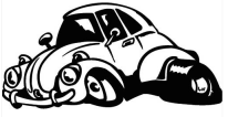Beetle Cartoon Sticker No2