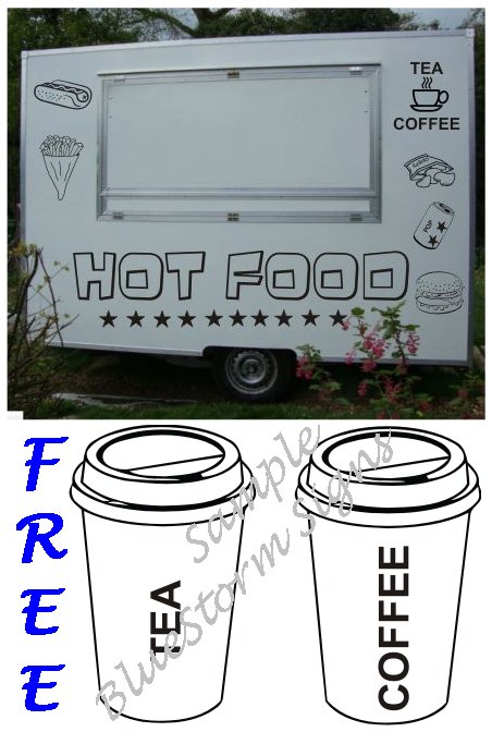 HENRYS MOBILE CATERING VAN DECALS/STICKERS KIT CHUCK WAGON