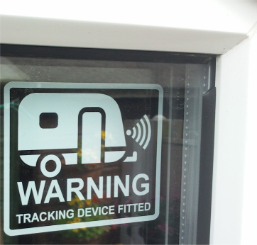 CARAVAN SECURITY STICKER TRACKER DEVICE FITTED CARAVANERS X1