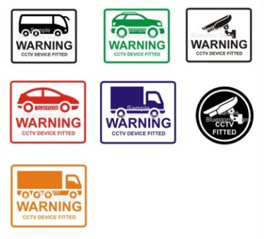 CCTV Security Device Fitted Warning Sticker X1 Coach 4x4 Car