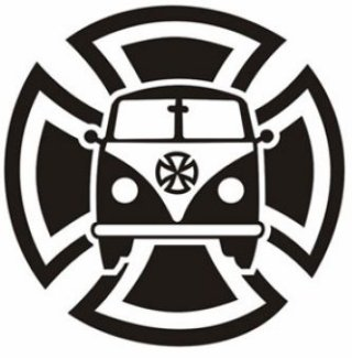 VW Splitty Cross Sticker