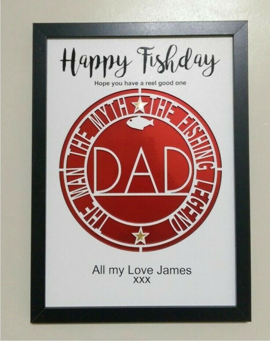 PERSONALISED BIRTHDAY FISHING PHOTO FRAME IDEAL