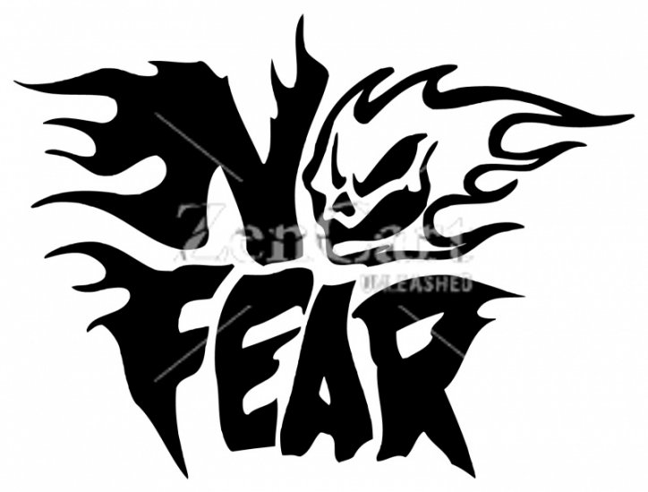 No Fear Skull Sticker No Fear Skull Sticker 120mm 2 60