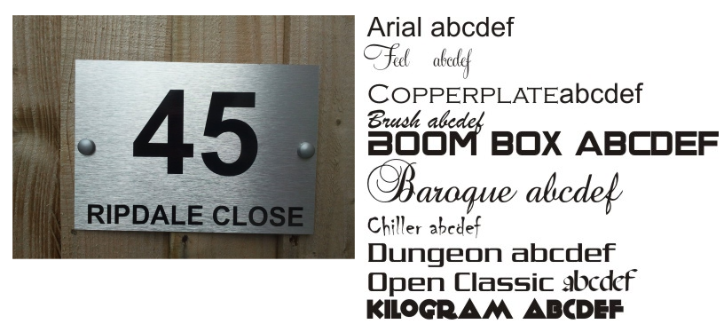 Door Plaqe Personalised Family House Name and Street Door Sign