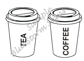 MOBILE CATERING VAN TEA & COFFEE DECALS STICKERS NO2