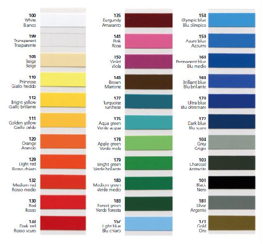 Swatch Colours Available