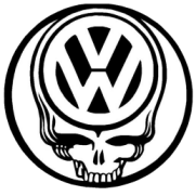 Skull VW Sticker