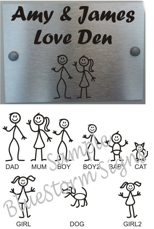 Door Plaque Personalised Stick Family House Name and Street