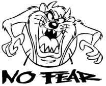 Taz No Fear Sticker