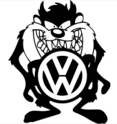Taz VW Sticker
