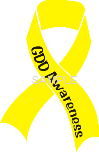 GDD Awareness Ribbon Vinyl Sticker, New Design