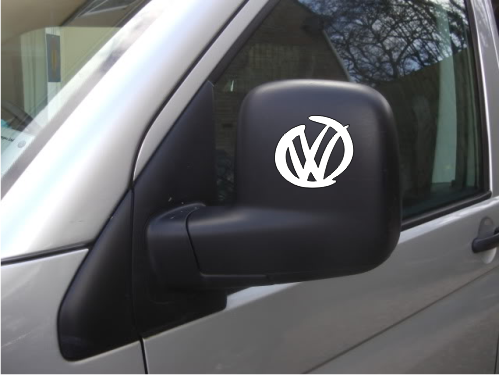 2 x Modern VW Logos For Door Mirrors.