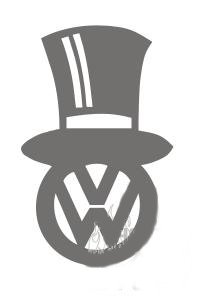 VW Tophat Sticker