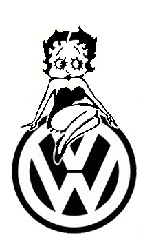 Betty Boop VW Sticker
