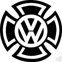 VW Cross Sticker