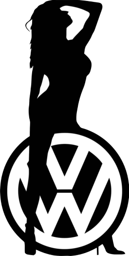 VW Lady Sticker