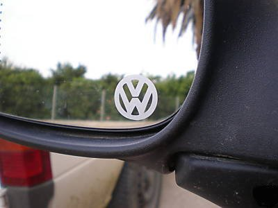 VW LOGO MIRROR STICKER DECAL LUPO GOLF BORA PASSAT EOS