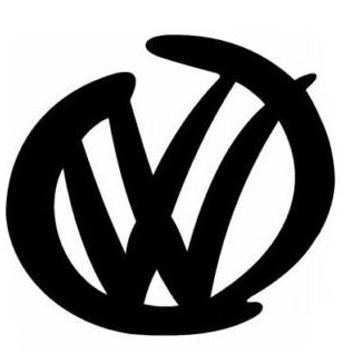 VW Emblem Sticker