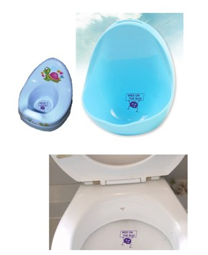 Potty Toilet Training Wee on the Bug Toilet Sticker X2