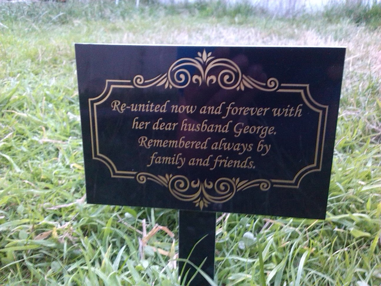 memorial garden plaque grave marker ornament churchyard 6 x 4 ebay. Black Bedroom Furniture Sets. Home Design Ideas
