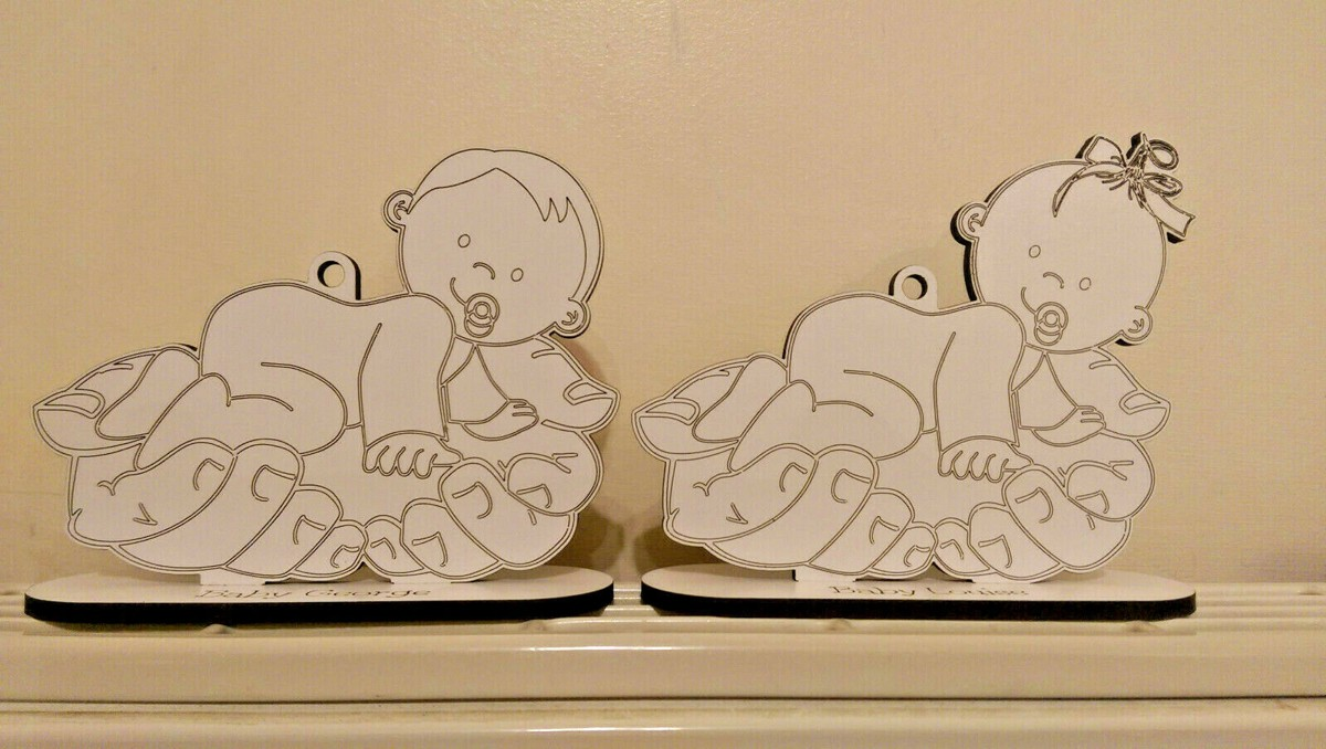 Laser cut Balloon Weight, New Baby Shower, Birthday, Christening