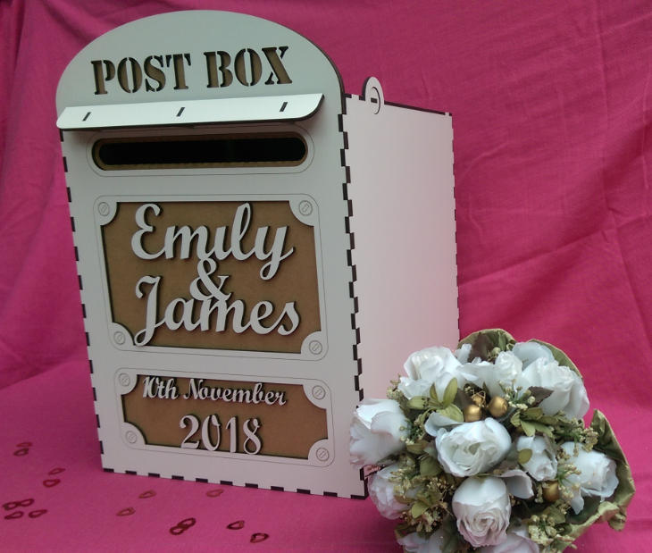 WEDDING POSTBOX Laser cut and engraved